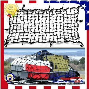 Universal SUV Cargo Net, Rugged Ridge, Roof Rack Stretch Net, Solid for Ford