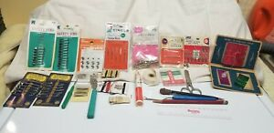 Vintage Sewing Items Advertising Needle Books Threadsamp; misc $15.00