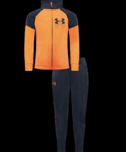 NWT Boys Under Armour Gameday Track Set Orange $27.99