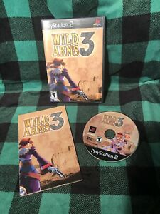 Playstation 2 Wild Arms 3 Game Disc Case Manual - Nice Tested Working
