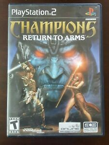 Sony PlayStation 2 CHAMPIONS: RETURN TO ARMS Rare Game Hard to Find! With Case