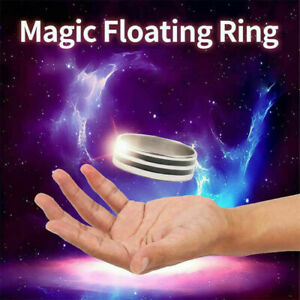 Magic Ring Tricks Play Ball Floating Effect of Invisible Magic Props Funny Toy