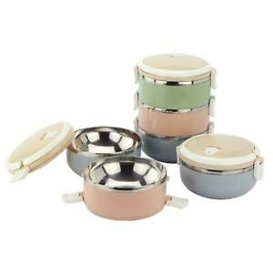 1 2 3 4 Layers Compact Size Lunch Box Thermal for Food Bento Stainless Steel
