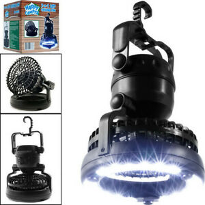 2in1 Portable LED Camping Light w Ceiling Fan Outdoor Flashlight Tent Lamp