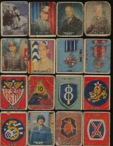 1950 Topps Freedom's War  G lot of 77 diff low grade cards G avg 52570