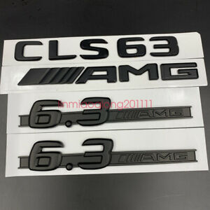 Matte black CLS63 AMG 6.3 AMG Letters Trunk Embl Badge Sticker for Mercedes Benz