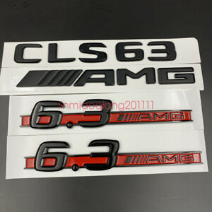 Gloss black CLS63 AMG 6.3 AMG Letters Trunk Embl Badge Sticker for Mercedes Benz