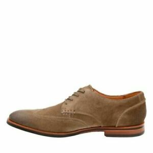 Clarks Broyd Wing Olive Mens Casual Suede Wingtip Oxfords 24126 $129.95