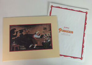 DISNEY PINOCCHIO COMMEMORATIVE LITHOGRAPH 1993 $29.99
