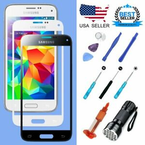 Replacement Touch Screen Glass Lens For Samsung Galaxy S5 Phone Repair Tools Kit