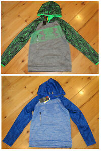 Under Armour Storm big logo hoodie NWT UPICK boys' M L blue green gray pattern $26.99