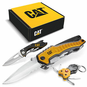 Cat 3 Piece Multi-Tool and Pocket Knife Gift Set Box - 240125