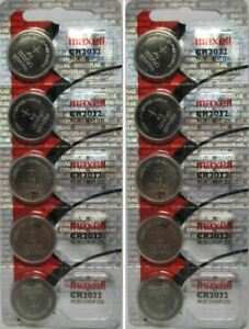 Lot of 10 Genuine Maxell CR2032 CR 2032 3V LITHIUM BATTERY Made in Japan BR2032 $3.49