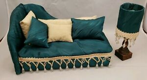 Playscale 1:6 scale doll Chaise sofa lamp Barbie Fashion Royalty Blythe BJD Icy