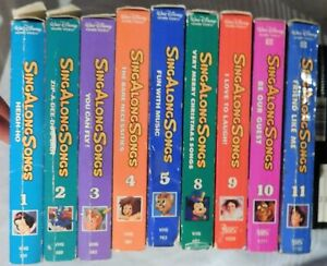 Disney's Sing Along Songs (VHS 1993) Choose from 5 9 10 or 11