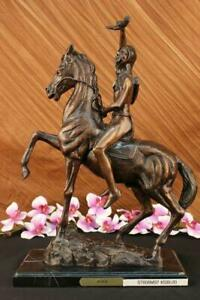 The Scalp Bronze Sculpture by Frederic Remington Finest USA Lost Wax Casting Art