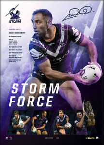 Cameron Smith – Storm Force 400 Game Lithograph UNFRAMED - Official NRL
