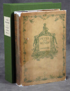 J M Barrie  Peter and Wendy with Barrie signature laid-in Signed 1st ed 1911