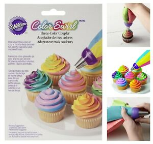 Wilton 3-Color Coupler Icing for Colorful Cupcakes Decorating Cakes