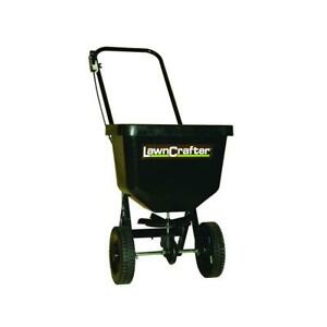 50 lbs Push Broadcast Spreader Compact Size for Small Lawns Walk Behind Garden
