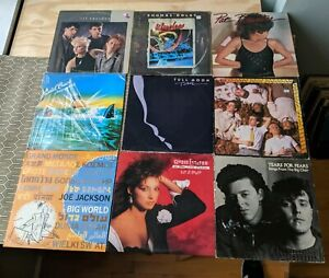 Lot Of 20 New Wave Rock LP's From 80's: Til Tuesday + Haircut 100 + Blondie ++