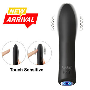 Luvkis Rechargeable Touch-Sensitive Bullet Magic Wand Massager Cordless Vibrater