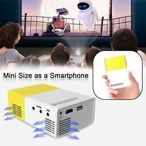 Mini 1080P Full HD LED Projector LCD Smart Home Theater AV HDMI Multimedia US GA