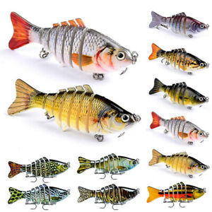 10PCS Lot Fishing Lures 7 Segment Fish Bass Minnow Swimbait Tackle with Hook