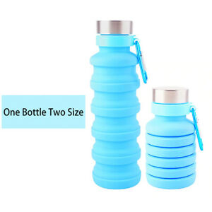 Retractable Folding Water Bottle Portable -Silicone