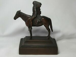 Bronze Metal Native American Indian Chief Horse Statue Appeal ToThe Great Spirit