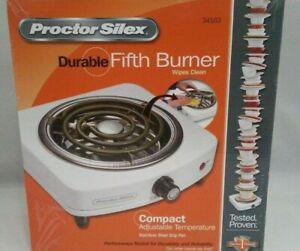 Proctor Silex 34103 Fifth Burner White Kitchen amp;amp Dining