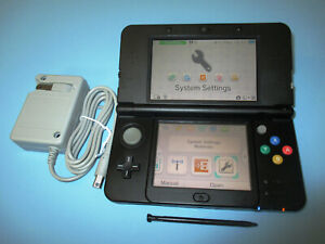 New Nintendo 3DS Super Mario Black Edition System wCharger FREE Ship!