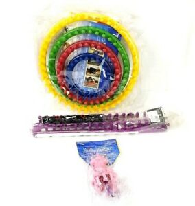 Provo Craft Knifty Knitter Looms Lot Set Pink Rectangle Round Series Loom Hook