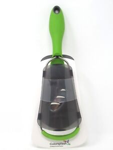 Colorsplash Fine Blade Precision Grater Non Slip Silicone Handle Kitchen Green