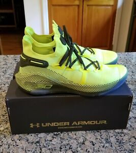 Under Armour Curry 6 Coy Fish Size 12 Volt Black 3020612-302 Basketball Shoes