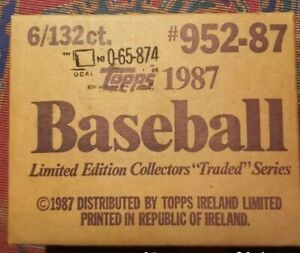 1987 Topps Tiffany Traded Sealed Set Of 6 individual sets.