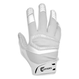 NEW Youth Cutters Rev Pro S450 Football Receiver Gloves White Size Youth Small