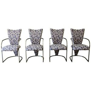 Dining Chairs Set of 4 by Design Institute America Midcentury Reupholstered