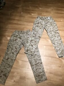 USMC US MARINE CORPS DESERT MARPAT MCCUU PANTS LARGE X-LONG TROUSERS Lot Of 2
