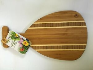 TOTALLY BAMBOO Outrigger Paddle Cutting Board /Serving Board
