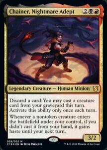 x1 Chainer, Nightmare Adept - Foil MTG Commander 2019 M M/NM, English