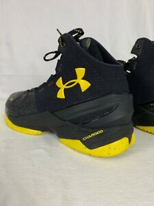 UNDER ARMOUR CURRY 2 BLACK DARK KNIGHT BATMAN 1259007-006 BASKETBALL SHOES 8.5