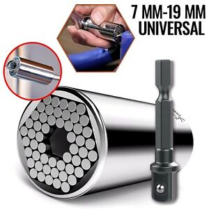 Universal Socket Multi Tool Ratchet Wrench Drill Adapter Tools Home Repair