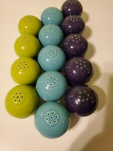 Fiestaware Ball Salt or Pepper Shaker - Single - Various Colors - no stopper