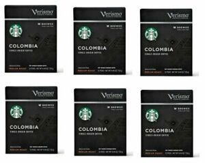 Starbucks Verismo Colombia Single-Origin Coffee, Medium Roast 72 Pods Exp OCT/19
