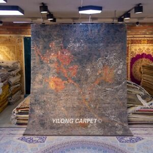 Yilong 8x10ft Impressionism Design hand knotted wool carpets Woolen area rug P22