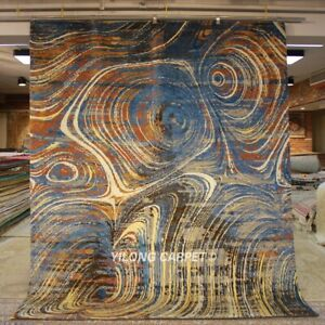 YILONG 8'x10' HandKnotted Wool Area Rug Abstract Van Gogh Design Carpet P1217