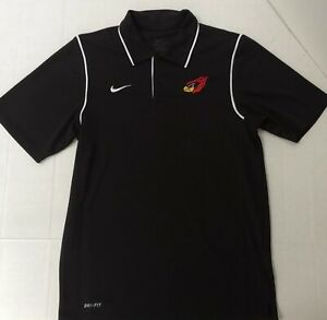 ARIZONA CARDINALS Nike Dri-Fit Men's NFL Football Black Polo Shirt Mens SZ Small