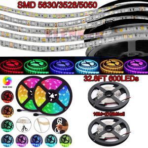 10M 2X5M 3528 5050 5630 SMD 600 LED Flexible Strip light DC 12V Camping Car Boat
