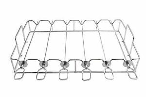 BBQ Shish Kabob Set and Grill Rack Set for Cooking on Gas or Charcoal Grill,6PCS